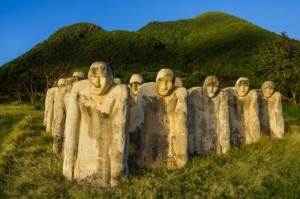31 Dec 2011, Le Diamant, Martinique --- France, Martinique (French West Indies), Le Diamant, Anse Cafard Memorial, by French West Indies artist Laurent Valère, symbolizing the drowning slaves in the sinking of a ship in the bay --- Image by © Marc Dozier/Corbis
